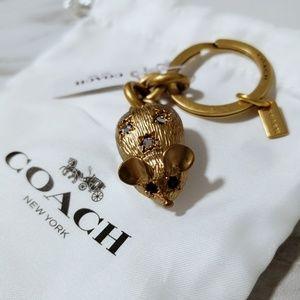 COACH 3D Mouse Key Chain